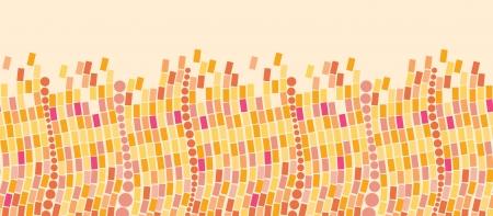 burning paper: Fire mosaic tiles horizontal seamless pattern background border Illustration
