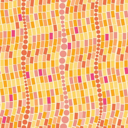 Fire mosaic tiles seamless pattern background Stock Vector - 16446326