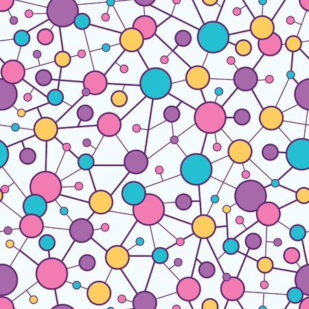 a pink cell: Molecular Structure Seamless Pattern background