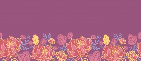 Magical flowers horizontal seamless pattern background Stock Vector - 16446395