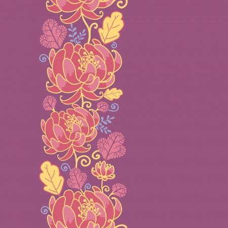 Magische bloemen verticale naadloze patroon achtergrond
