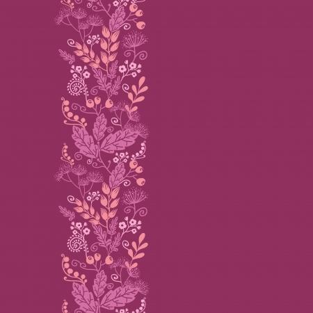 vertical garden: Fall garden vertical seamless pattern background border