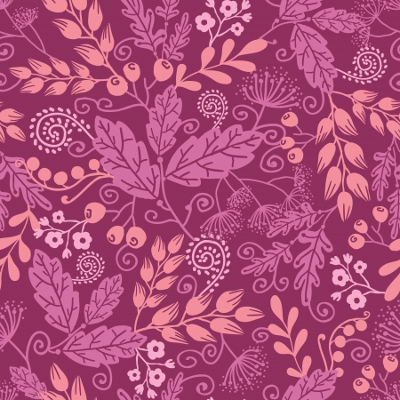 Fall garden seamless pattern background