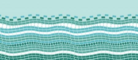horizontal: Abstract ice chrystals texture horizontal seamless pattern