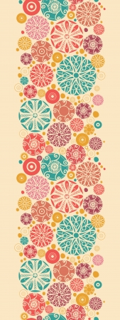 wheal: Abstract decorative circles vertical seamless pattern border