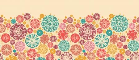 Abstract decorative circles horizontal seamless pattern border Stock Vector - 16564815