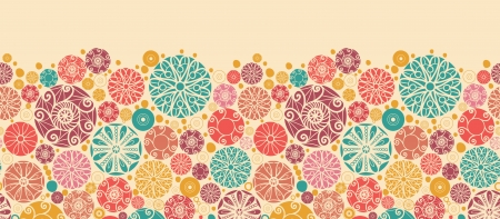 Abstract decorative circles horizontal seamless pattern border Stock Vector - 16564815