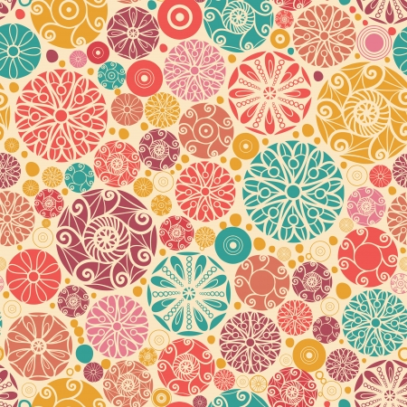 wheal: Abstract decorative circles seamless pattern background Illustration