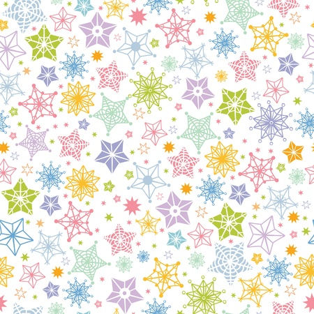 Colorful stars seamless pattern background Stock Vector - 16564831