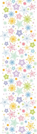 Colorful stars vertical seamless pattern background border Vector