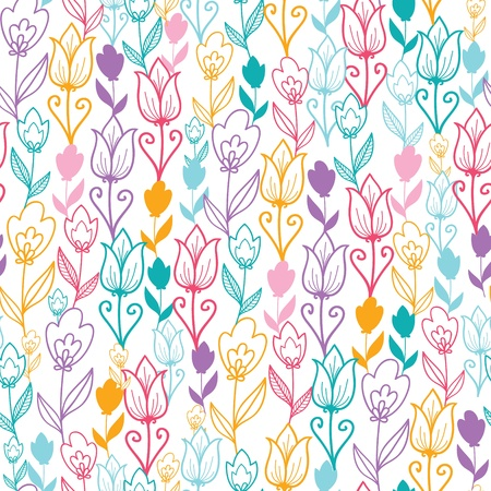 Colorful tulip flowers seamless pattern background Stock Vector - 16564785