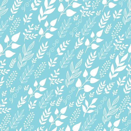 Leaves Silhouettes In the Wind Seamless Pattern background Vector