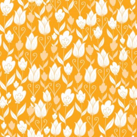 Gouden tulpen bloemen naadloze patroon achtergrond