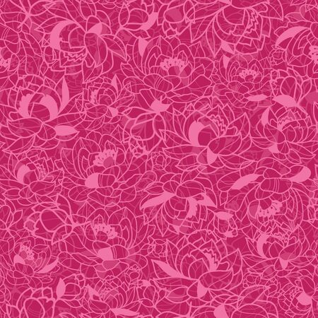 Abstract Pink Plants Seamless Pattern Background