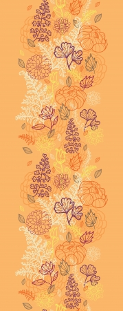 Desert flowers and leaves vertical seamless pattern border Vector
