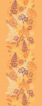 Desert flowers and leaves vertical seamless pattern border Stock Vector - 16564821