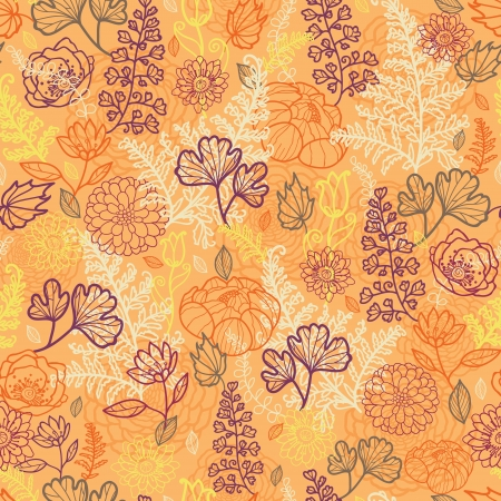 Desert flowers and leaves seamless pattern background Vector