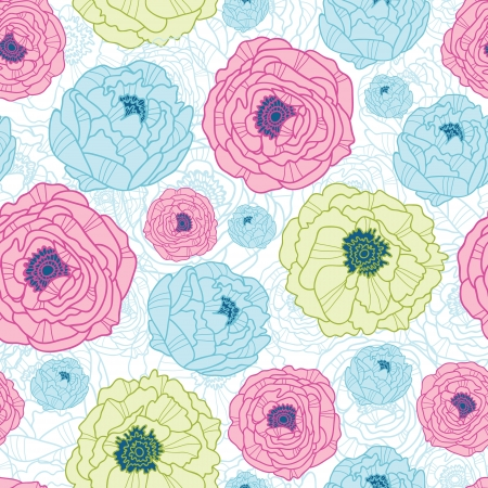 Lovely flowers seamless pattern background Vector