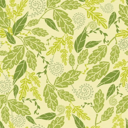 Green Leaves Seamless Pattern Background Ilustrace