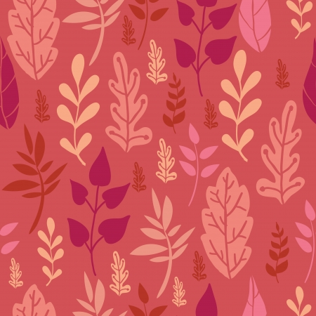 Red Leaves Seamless Pattern Background