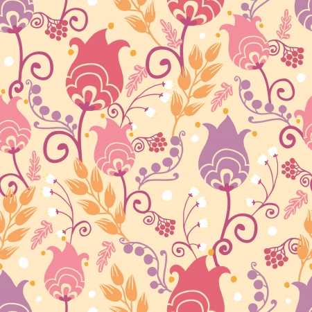 dutch: Tulip flowers seamless pattern background