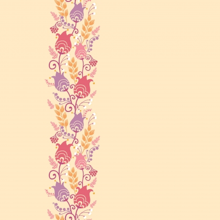 Tulip flowers horizontal seamless pattern background border Vector