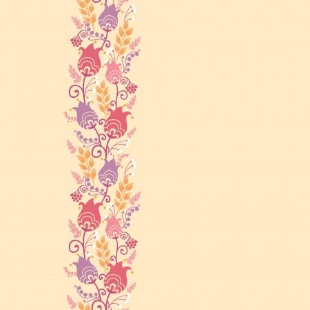 Tulip flowers horizontal seamless pattern background border Stock Vector - 16564787