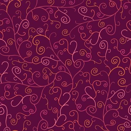 Abstract Swirl Plants Seamless Pattern Background Stock Photo - 16564784