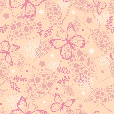 Pink Butterflies Seamless Pattern Background Vector