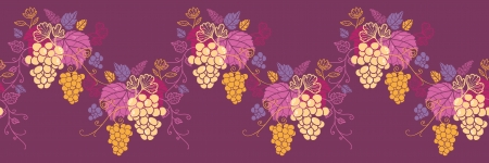 달콤한 포도 덩굴 가로 원활한 패턴 파 국경