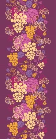Vignes douces verticale frontière transparente motif de fond Vecteurs