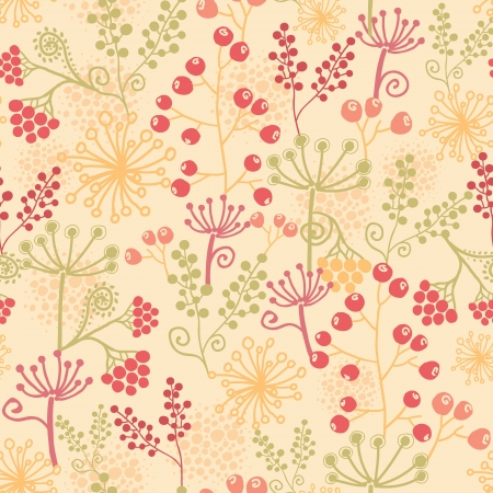 Summer berries seamless pattern background Stock Vector - 16583016