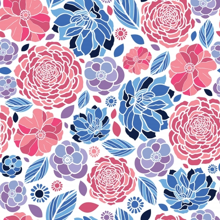 Mosaic flowers seamless pattern background Vector