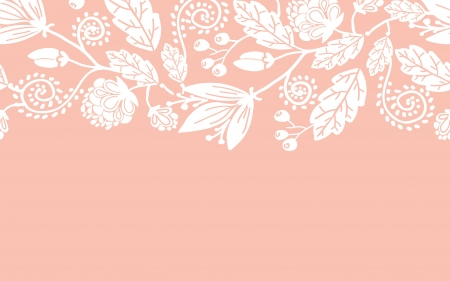 Wedding flowers and leaves horizontal seamless pattern border Vector