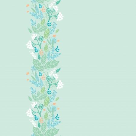 Spring berries vertical seamless pattern background border Vector