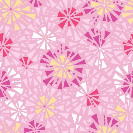 solid color: Pink abstract triangles seamless pattern background Illustration