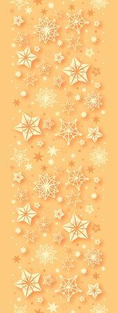 Golden Christmas Stars Vertical Seamless Pattern Border Stock Vector - 16583071