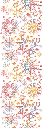 Textured Christmas Stars Vertical Seamless Pattern Border Vector