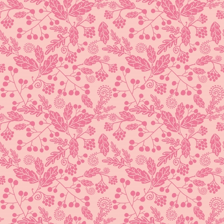 Pink silhouette flowers seamless pattern background Illustration