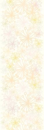 Abstracte Fluffy Planten Verticale naadloze patroon Border