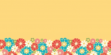 Camomiles horizontal seamless pattern background border Vector