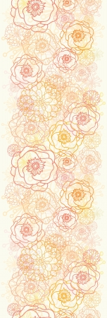 Warm flowers vertical seamless pattern background Stock Vector - 16602340