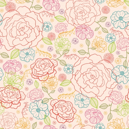 Pink roses seamless pattern background
