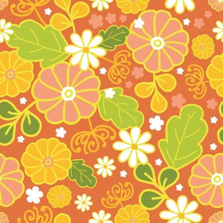 Golden flowers seamless pattern background Stock Vector - 16627529