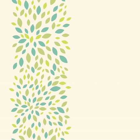 Leaf texture vertical seamless pattern background border Vector