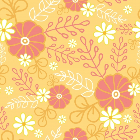 Hot flowers seamless pattern background Stock Vector - 16627484