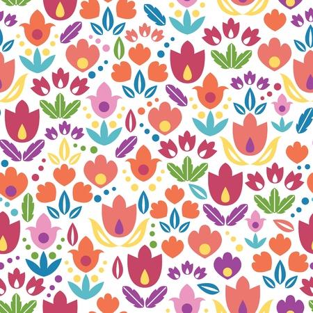 Abstracte tulpen naadloze patroon achtergrond