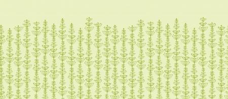 Underwater Plants Stripes Horizontal Seamless Pattern Border Stock Vector - 16675701