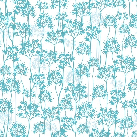 Abstract blue trees seamless pattern background Stock Vector - 16675708