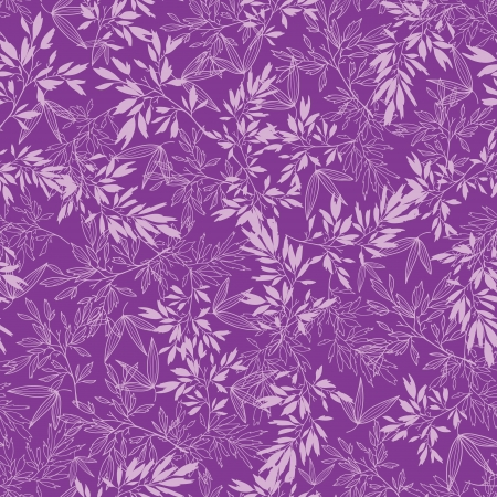 bamboo leaf: Purple branches seamless pattern background